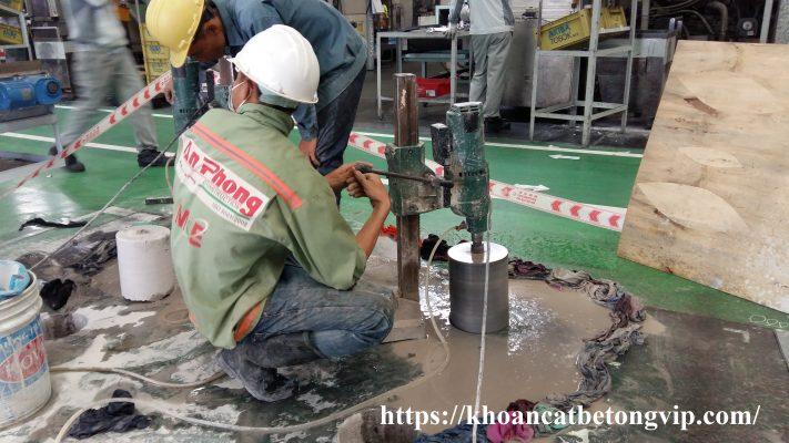 Khoan cắt bê tông quận Tân Phú