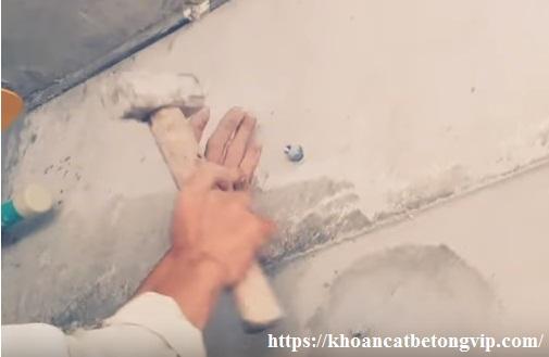 Hướng dẫn khoan rút lõi bê tông xuyên tường, đà 11